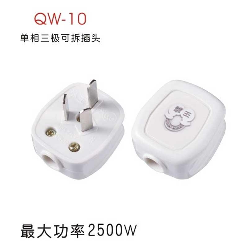 拳王 三线扁插头(QW-16A-3T)