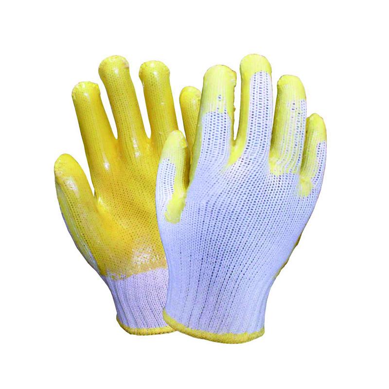 海太尔 0002 PVC凃胶手套 黄色 上海(0002 黄色)