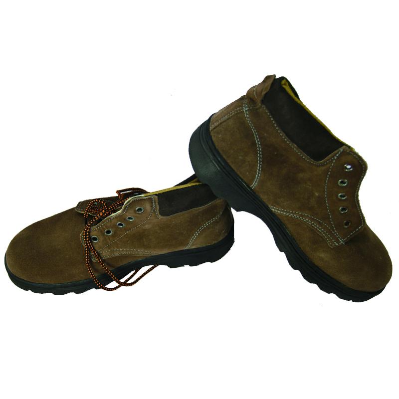海滨龙模压底钢包头牛二层反绒防砸鞋(35#)