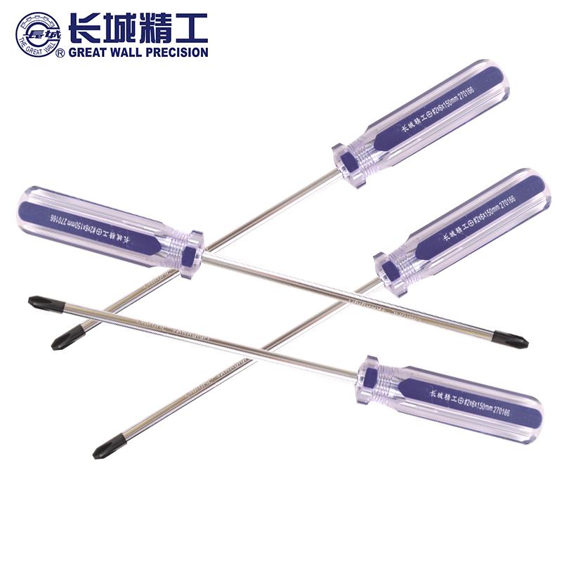 长城 透明双色塑柄十字螺丝批(3*75mm(270133))