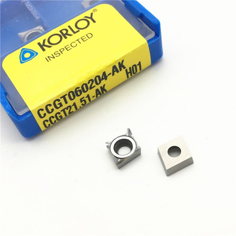 KORLOY刀片 (CCGT060204-AK H01 )